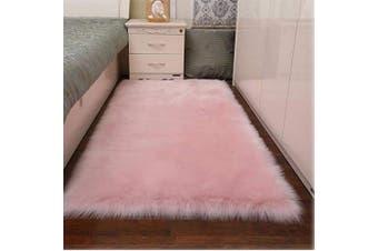 (Light Pink, 70cm  x 140cm ) - Topspitgo Faux Sheepskin Rug, Soft fur Area Rugs Anti-Skid Carpet For Living Room Bedroom Sofa Floor Rugs (Light Pink, 70cm x 140cm )