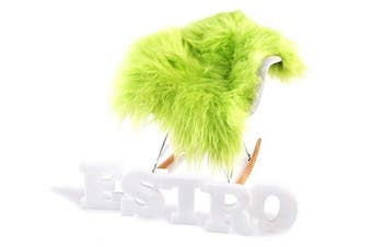 (Lime, 110 cm) - ESTRO | Genuine ICELANDIC Sheepskin Lambskin Rug | Lustrous and Luxurious | Colour Variety (Lime, 110 cm)