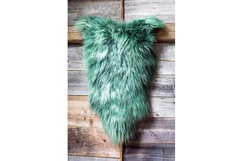 (Green, 120 cm) - ESTRO | Genuine ICELANDIC Sheepskin Lambskin Rug | Lustrous and Luxurious | Colour Variety (Green, 120 cm)