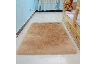 (Brown, 50X150 CM) - Monthly 50 * 150CM Faux Fur Rug Soft Fluffy Rug Shaggy Rugs Faux Sheepskin Rugs Floor Carpet for Living Room Bedrooms Decor (Brown)