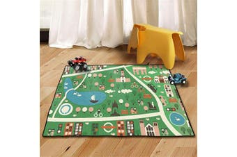 (60cm x 90cm , Forest Park) - WERUGS Kids Rug Street Map Play Mat, Educational Baby Theme Park Area Rugs, City Life Cars Roads Child Large Carpet for Playroom Nursery Bedroom Living Room Classroom (60x90cm, Forest Park)