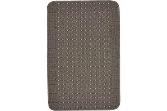 (Grey, 100 x 67) - Dandy by William Armes, Stanford Small Rug Washable Kitchen Mat, Lead Grey with Sugar, 100 x 67