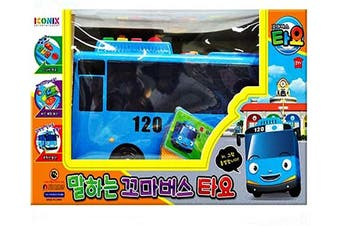 Tayo Talking The Little Bus, Bus Toy Friction Powered Blue Car Figure