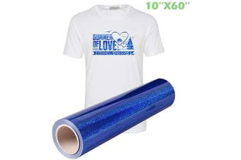(25cm ×1.5m, Royal Blue) - Laser Colourful Heat Transfer Vinyl HTV (25cm ×1.5m, Royal Blue)