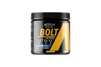 Bolt Extreme Energy - Blueberry Haze - 30 Scoops - Action Nutrition - Pre Workout