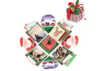 (Christmas) - Christmas Explosion Box, EKKONG Explosion Box, DIY Photo Album, Gift Box for Merry Christmas Gift(Christmas)