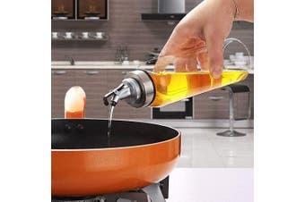 (300ml) - Olive Oil Dispenser Bottle,300ml Cooking Oil Cruet Glass,No Drip,Small Oil and Vinegar Dispenser, Lead-Free Glass Bottle for Oil Kitchen with Degree Scale