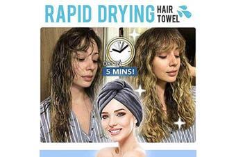 (gray) - 5-colour Rapid Drying Hair Towel (grey)