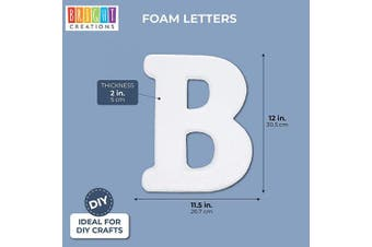 (Symbol B) - Bright Creations Foam Letter B for DIY Crafts, 30cm , White