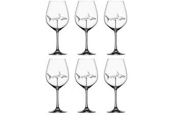 (6pc) - SXFSE Red Wine Glasses, Shark Red Wine Glasses for Adults, Creative Goblet Glass Mug for Cold Drink Champagne Goblet Cocktail Glasses Whiskey Cup Party Barware
