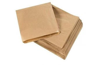 Cosmall 200 x Brown Strung Kraft Paper Food Bags food use, groceries, sandwiches etc (25cm x 25cm )