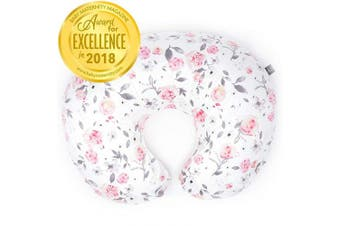 (One Size, Petal) - Minky Nursing Pillow Cover - Slipcover ONLY - Petal Slipcover - Best for Breastfeeding Moms - Soft Fabric Fits Snug On Infant Nursing Pillows to Aid Mothers While Breast Feeding