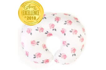 (One Size, Peony) - Minky Nursing Pillow Cover - Slipcover ONLY - Peony Slipcover - Best for Breastfeeding Moms - Soft Fabric Fits Snug On Infant Nursing Pillows to Aid Mothers While Breast Feeding