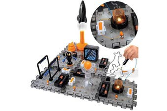 Discovery #MINDBLOWN Action Circuitry Electronic Experiment STEM Set, Build-it-Yourself Engineering Toy Kit, Explore the Science of Lights, Sounds & Motion, 6 Experiments, Great Gift for Kids Ages 8 +