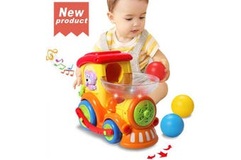 (musical train toys) - ACTRINIC Baby Toy 12- . ,Early Educational Electric Train with Chasing Balls,Light/Talking/Music/Universal Moving Wheel,Best Gift Toys for 1 2 3 4 Years Old Boys Girls Toddler Kids Toys