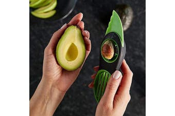 Avocado Slicer,3-in-1 Avocado Savers-Cutter,Pitter,Scooper - Silicone Handle and Stainless Steel Blade,Splits Fruit Pits Scoop Tool