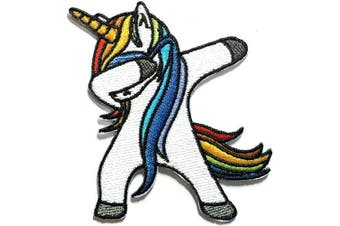 Iron on Patches#38,Unicorn Patches, Embroidered Patches, DIY Badge Patches Clothing Backpacks Jeans T-Shirt Caps Jacket Shirt Polo Vest Hat Bags Cute Kid Patch by BossBee