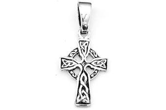 925 Sterling Silver Infinity Small CELTIC Gaelic Cross Pendant