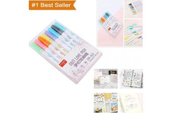 Glitter Gel Pens Set, Double Line Outline Pen Stationery, 8 Coloured Glitter Pen, Writing Drawing Pens for Colouring Books, Craft Drawing Doodling, Card Making, Ceramics, Glass, DIY Poster (Multicolor)