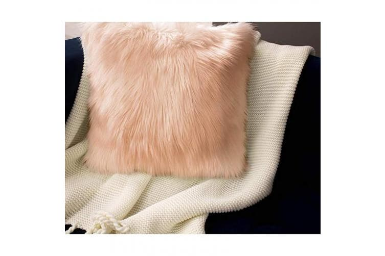 (50cm  X 50cm , Blush) - Barcelonetta | Faux Fur Squares | Shaggy Fur Fabric Cuts, Patches | Craft, Costume, Camera Floor & Decoration (Blush, 50cm X 50cm )