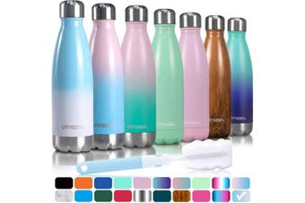 (1000ML, Marine) - arteesol Water Bottle, Stainless Steel Insulated Water Bottles Double Walled Vacuum Flask, BPA Free Leak-Proof Slim Mouth Drink Flask-Keep Cold and Hot- 500/750/1000 ml Portable Sport Bottle