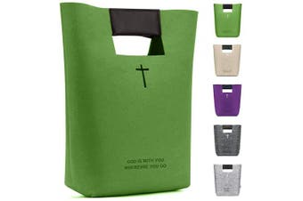 (Green) - Bridawn Carry Bag Felt Shopping Bag for Women Men with Carry Handle for Shopping Carrying Purse Phone Laptop Toy Storage (Green)
