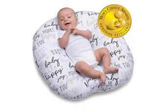 (Standard) - Boppy Original Newborn Lounger, Hello Baby Black and Gold