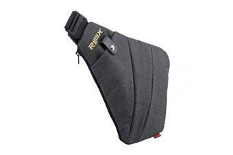 (Grey, Right Handed) - Rimix Multi-purpose Anti-thief Hidden Security Bag Underarm Shoulder Armpit Messenger bag Sports Leisure Chest Bag Portable Backpack for Phone Money Passport Tactical Bag