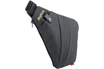 (Grey, Left Handed) - Rimix Multi-purpose Anti-thief Hidden Security Bag Underarm Shoulder Armpit Messenger bag Sports Leisure Chest Bag Portable Backpack for Phone Money Passport Tactical Bag