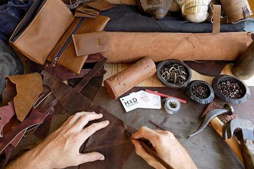 4 Piece Set for Crafts//Tooling//Hobby Workshop Heavy Weight 6x6 in. 1.6-1.8mm Rustic Leather Rectangles :: Bourbon Brown Hide /& Drink