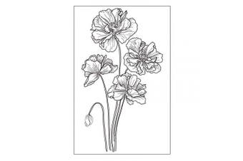 Flowers Poppy Budding Poppies Stamp Rubber Clear Stamp/Seal Scrapbook/Photo Album Decorative Card Making Clear Stamps