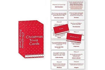 Christmas Trivia Cards Game What Am I . Party Stocking Cracker Gift Bag Filler Xmas Kids Children Family Activity Present Fun Pay