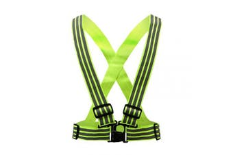 (Yellow3) - AYKRM Multiple colours optional High Visibility hi vis Reflective running safety Vest
