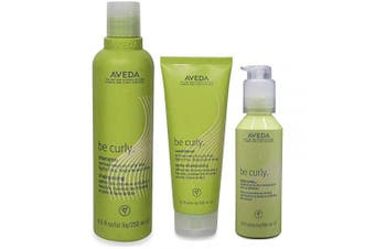 Aveda Be Curly Shampoo 250ml, Conditioner 200ml & Be Curly Style-Prep 100ml
