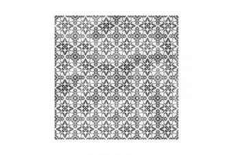 (46cm , Black White) - Ambesonne Black and White Cloth Napkin Set of 4, Portuguese Tile, 46cm , Black White