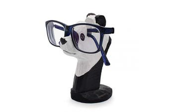 (Panda) - VIPbuy Hand Carved Wood Eyeglasses Spectacle Sunglasses Holder Stand Animal Shaped Home Office Desk Décor Gift (Panda)