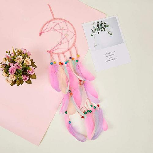 Dream Catchers for Kids | Moon Net Colorful Feather Dream Catcher | Beanstalk Mums