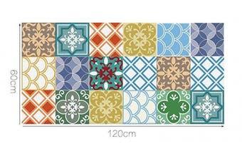 "(Moroccan, 60x120cm) - Alwayspon Vinyl Floor Wall Tiles Sticker, Waterproof Non-slip Splashback Tiles Decal for Kitchen Bathroom, Self-adhesive Peel and Stick PVC DIY Home Decor, 23.6x47.2""/60x120cm, 1 Pcs"