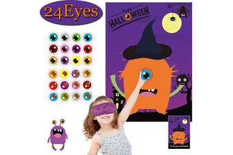 (Pin the Eye on the Monster) - Halloween Party Games for Kids Pin The Eye on The Monster Game Halloween Party Favours and Games Halloween Halloween Party Games Activities Halloween Pin The Tail (Pin The Eye on The Monster)