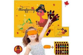 (Pin the Tail on the Turkey) - Funnlot Thanksgiving Party Games for Kids Thanksgiving Games Pin The Tail on The Turkey Thanksgiving Party Decor Thanksgiving Games and Activities Thanksgiving Pin The Tail
