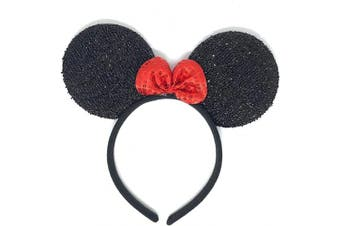Albertino Minnie Mouse Sequin Ears Headband Party Costume Headwear Accessory Halloween Edition
