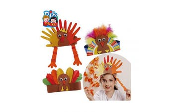 (3 set Head ring) - Turkey Craft Kits Thanksgiving & Autumn |Thankful Turkey Making Kit |DIY Festive Fall Thanksgiving Party Game |Door Hanging Ornament Decoration Supplies for Kids and Adults (3 Set Head Ring)