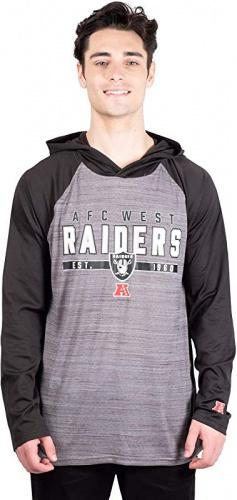 Small NFL Oakland Raiders Ultra Game Mens PULLOVER HOODIE Black