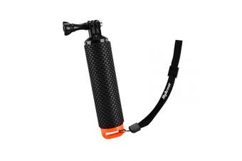(Black/Orange) - MyArmor Waterproof Floating Hand Grip Tripod Stick for Gopro Hero 5/ Gopro Hero 3+ 4 Session 3 - Handle Mount Accessories and Water Sport Pole for GeekPro 3.0 and ASX Action Pro Cameras Action Camera Accessories