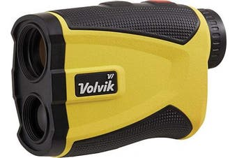 (Yellow) - Volvik V1 Pro Golf Range Finder - 1300 Yard Range With Vibrating Pin Lock & Slope Compensation Technology