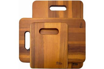 (Cutting Borad 1 Piece) - Wood Cutting Board, AIDEA 1- Piece 41cm Acaciawood Chopping Boards for Kitchen, Knife-friendly Wooden Cutting Board Best for Chopping Meat/Vegetables and Fruits - Best Christmas Gift (1 Piece)