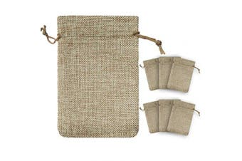 (25, 13cm  x 18cm ) - !RAKRISA 25 Pcs 13cm x 18cm Burlap Bags With Drawstring | Jute Drawstring Bags for Party Favours, Wedding Party Favour & Gifts