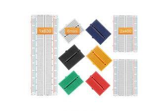 (Jumperset) - DEYUE Solderless Prototype Breadboard | 1x830 tie in point Breadboard 2x400 tie in points Circuit boards 6x170 tie points Mini Modular breadboard Kit