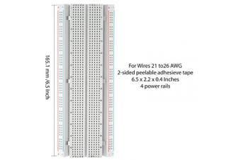 (breadboard+jumper) - DEYUE 3 Set Standard Jumper Wires Plus 3 Set of Solderless Prototype Breadboard 830 tie Points Breadboard | 3 Set of M/F, M/M, F/F - Each 40pin Electronic Jumpers Wire
