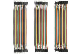 (3PCS Jumper) - DEYUE Jumper Wires Set - 120 PCs 3in1 breadboard Wires, Male to Male, Female to Male, Female to Female